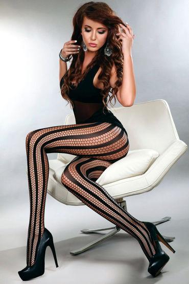 LivCo Corsetti Degana, черные Колготки из сетки с вертикальным рисунком casmir mayah блестящая черная сорочка с бело черным кружевом