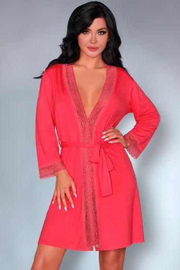 LivCo Corsetti Frances, коралловый Пеньюар украшенный кружевом халатик mia mia lady in red красный l xl