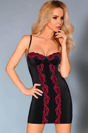 LivCo Corsetti Roanna, черная Сорочка с кружевом и трусики пеньюар сорочка и трусики livco corsetti jacqueline сиреневый l xl