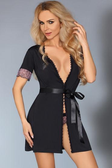 LivCo Corsetti Dina, черный Пеньюар и трусики эротический костюм школьницы le frivole costumes эротический костюм школьницы