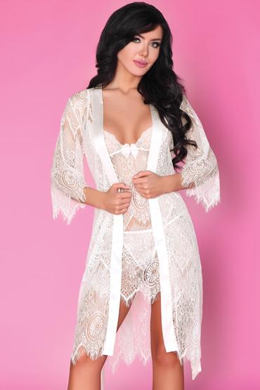 Livia Corsetti Reve Blanc, белый Пеньюар, сорочка и трусики baile booty passion анальный фаллос реалистичной формы