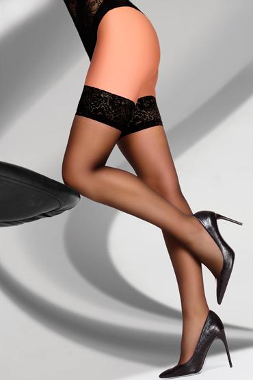 LivCo Corsetti Kornelie 20 den, черные Чулки с кружевной резинкой livco corsetti gawrila 20 den черные чулки контрастным декором