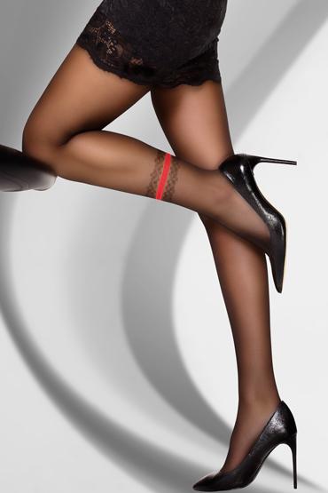 LivCo Corsetti Mayrana 20 den, черные Колготки с рисунком на голени пестисы livia corsetti 13 черные кружевные с бантиками