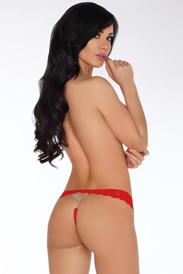 LivCo Corsetti Anneliesa, красные Кружевные трусики с декором пестисы livia corsetti 13 черные кружевные с бантиками