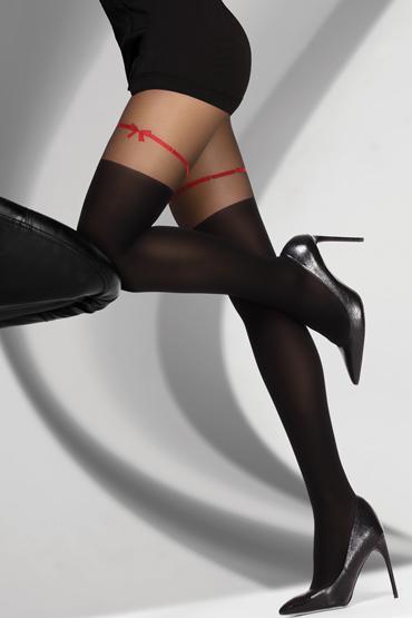 LivCo Corsetti Hreiama 60 DEN, черные Колготки с ярким акцентом пестисы livia corsetti 13 черные кружевные с бантиками