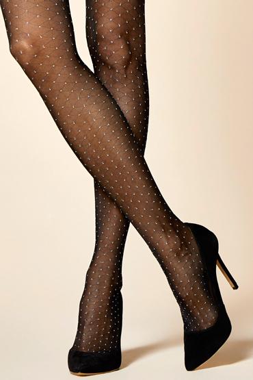 LivCo Corsetti Nettie 20 DEN, черные Колготки с геометрическим рисунком passion колготки ti021 черные классические с рисунком