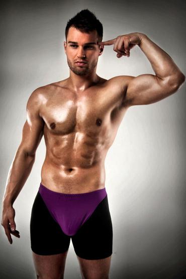 Passion 009 Thong, черно-фиолетовые Боксеры с открытыми ягодицами passion 015 thong серебряные стринги в ярком дизаине