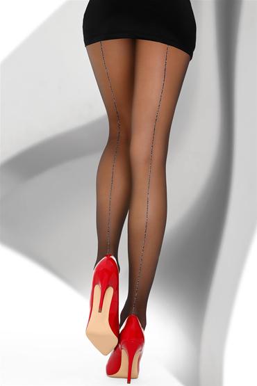LivCo Corsetti Palesan 20 den, черные Колготки со сверкающими стрелками livco corsetti gawrila 20 den черные чулки контрастным декором