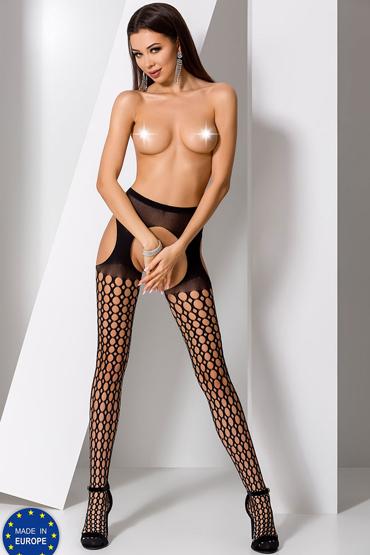 Passion Стрип-панти S006, черные С круглыми вырезами спортивные носки hot potato hp s006 cooldry hp s006
