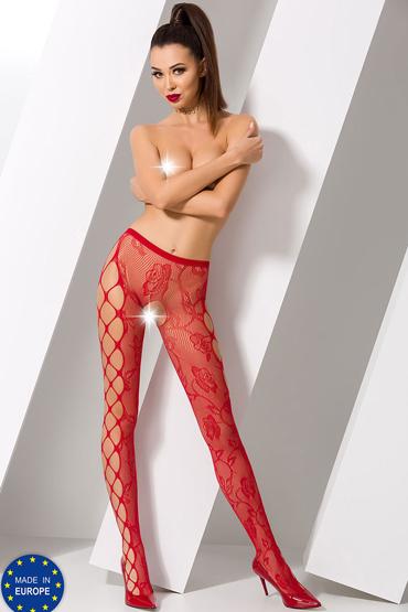 Passion Стрип-панти S008, красные С вырезами по бокам anne d ales erica stockings красные чулки в крупную сетку