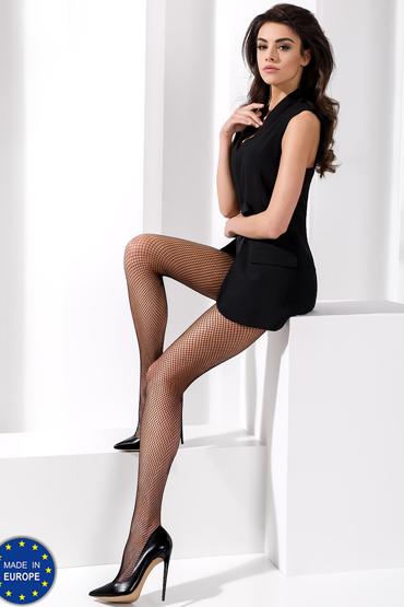 Passion Колготки TI020, черные Из мелкой привлекательной сетки