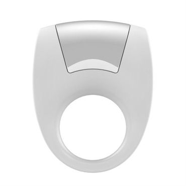 Ovo B8 Эрекционное кольцо, белое С виброэлементом, стимулирующее клитор ns novelties jelly rancher smooth t plug фиолетовая анальная пробка