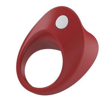 Ovo B11 Эрекционное кольцо, красное С виброэлементом, стимулирующее клитор виброяйцо ovo r6 remote на дистанционном управлении белое