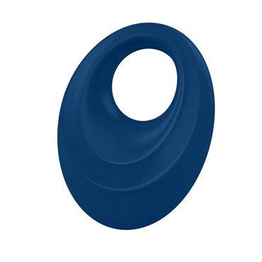 Ovo B5  Эрекционное кольцо, синее С виброэлементом и клиторальным стимулятором виброяйцо ovo r6 remote на дистанционном управлении белое