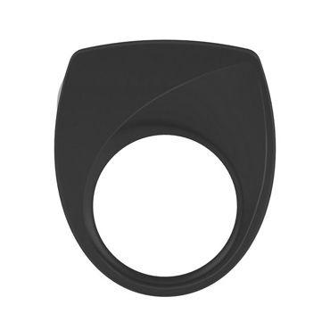 Ovo B6  Эрекционное кольцо, черное С виброэлементом виброяйцо ovo r6 remote на дистанционном управлении белое