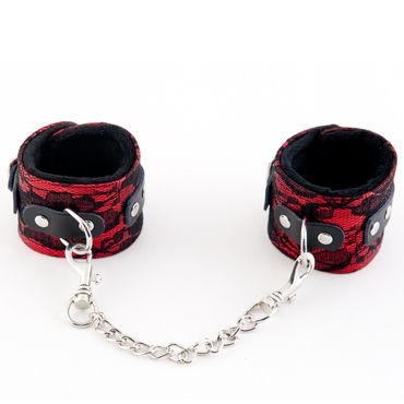 ToyFa Marcus Наручники, красные С кружевной отделкой чулки coquette в мелкую сеточку с тройной резинкой черные