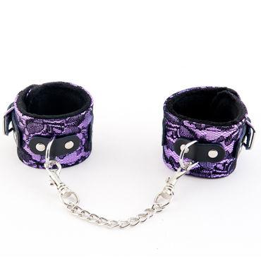 ToyFa Marcus Наручники, фиолетовые С кружевной отделкой toyfa marcus кляп серебристый с кружевной отделкой