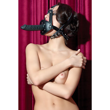ToyFa Theatre Кляп на сбруе С фаллоимитатором baile real body телесный мастурбатор грудь