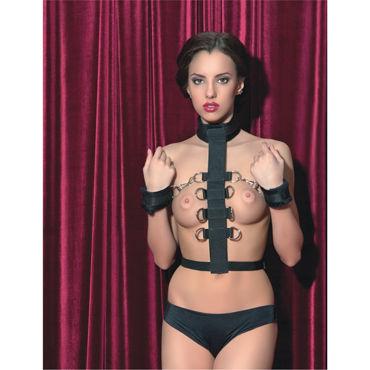 ToyFa Theatre Бондаж С мягкими наручниками zini roae серебристо черный эргономичный вибратор точки g