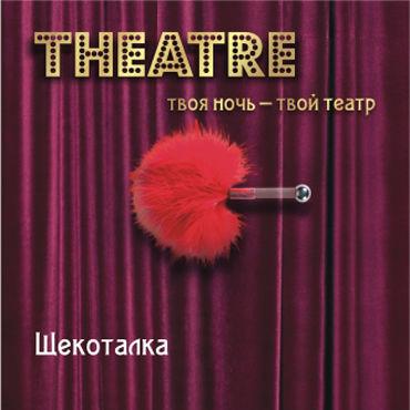 ToyFa Theatre Щекоталка, красная С короткой рукояткой веревка для бондажа toyfa theatre 10м красная