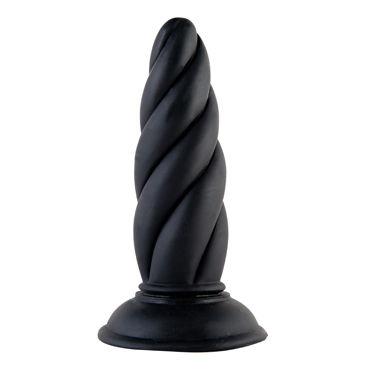 ToyFa Black&Red Анальная втулка, черная С рельефной поверхностью анальные игрушки для женщин цвет голубой