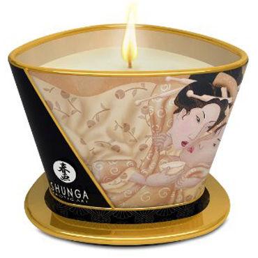 Shunga Massage Candle, 170мл Массажная свеча, ванильный фетиш презервативы sagami