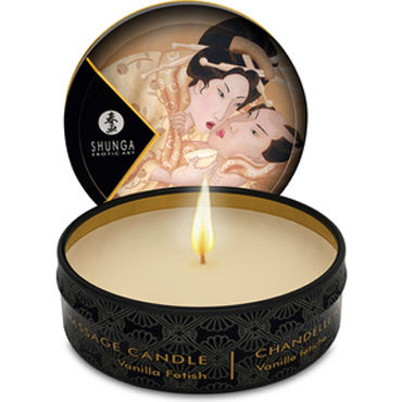 Shunga Massage Candle, 30мл Массажная свеча, ванильный фетиш