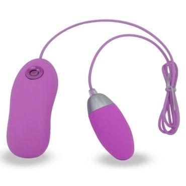 Seven Creations Dual Layer, фиолетовое Виброяйцо с проводным пультом управления joy nmore adel силиконовое виброяйцо с пультом управления