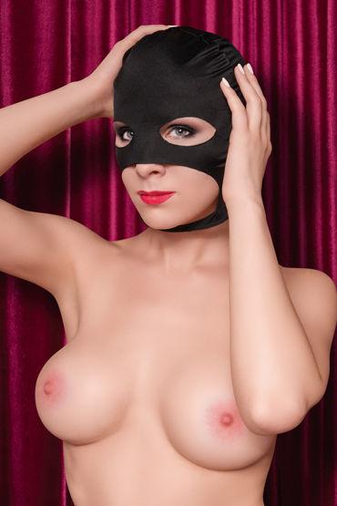 ToyFa Theatre Маска балаклава, черная С открытыми глазами, носом и ртом увеличение члена orion