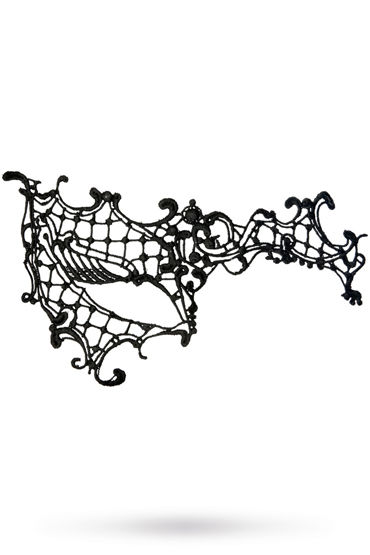 Toyfa Theatre маска Асимметрия, черная Маска ажурная из нитей