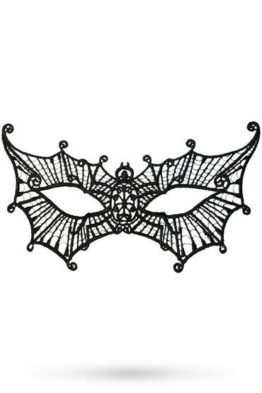Toyfa Theatre маска Паутинка, черная Маска ажурная из нитей toyfa theatre маска диадема черная