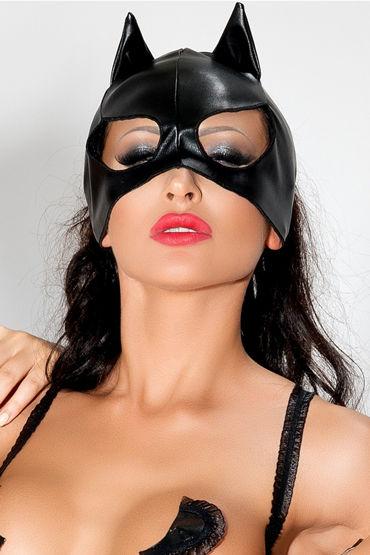 Me Seduce Маска с ушками, черная С открытыми вырезами для глаз