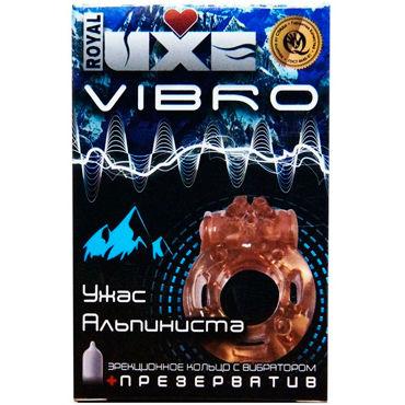 Luxe Vibro Ужас Альпиниста, оранжевое Комплект из виброкольца и презерватива увлажняющий лосьон для массажа dona massage lotion sassy aroma tropical tease 235 мл