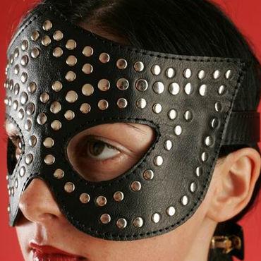 Podium очки-маска, черные На кожаной подкладке podium ошейник узкий с пуклями в виде пирамидки