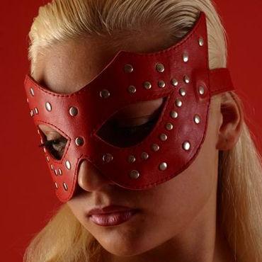 Podium очки-маска, красные На кожаной подкладке podium ошейник узкий с пуклями в виде пирамидки