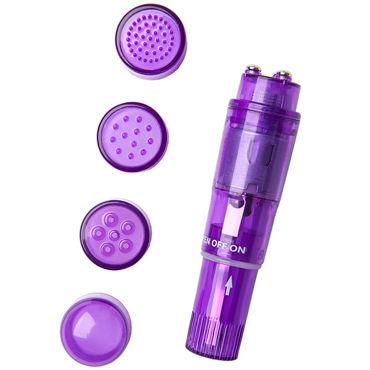 Erotist Adult Toys Mini Vibrator, фиолетовый Мини вибратор с насадками gopaldas warrior vibrator реалистичный и нежный вибратор