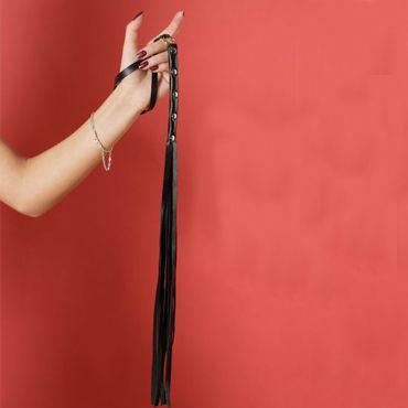 Podium плетка С металлическими заклепками orion black velvet medium анальная пробка