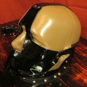 Podium намордник, черный С металлическими заклепками в насадки на пальцы длина до 12 см