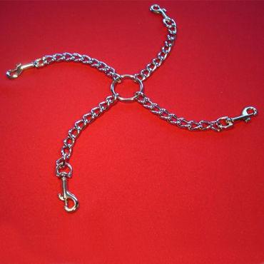 Podium цепи с карабинами, 35 см С соединительным кольцом