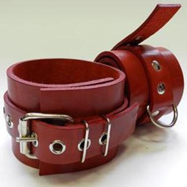Beastly наручники, красные Фурнитура с никелевым покрытием beastly наручники черные ремешок с пряжкой