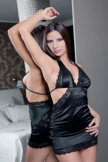 Flirt On Adelis Мини-платье с гипюровыми вставками смазки на силиконовой основе flutschi