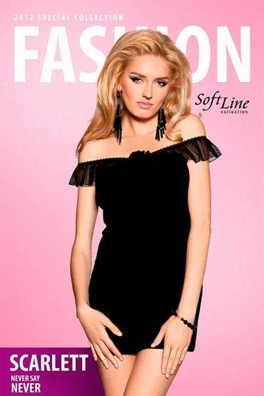 Soft Line Scarlett, черный Платье с открытыми плечами