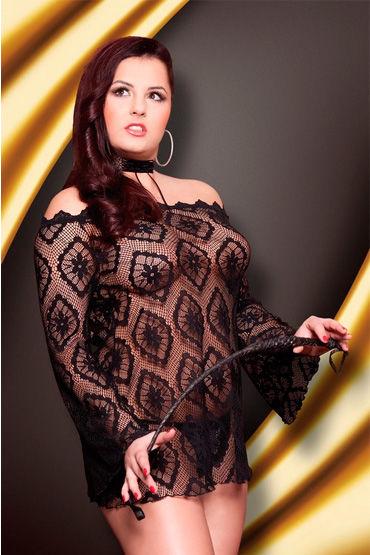 Soft Line платье-сетка Полупрозрачное, с открытыми плечами