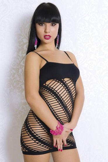 Erolanta платье-сетка С матовым верхом erolanta костюм сетка с оригинальным узором