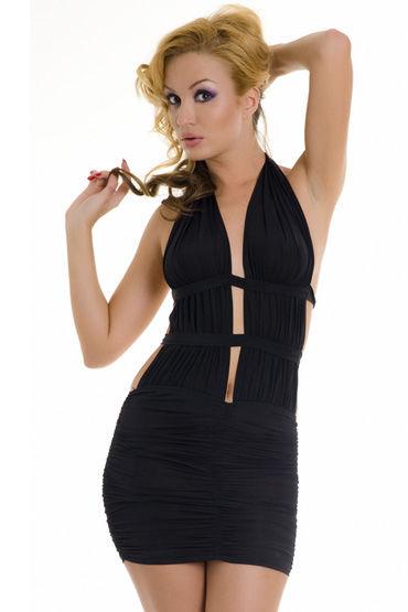Erolanta платье, черное Очаровательное, с обнаженной спиной