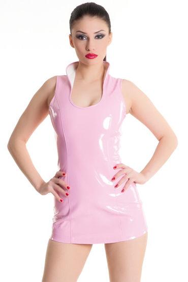 Erolanta платье, розовое Со шнуровкой сзади lucom кольцо черное c ушками из эластомера