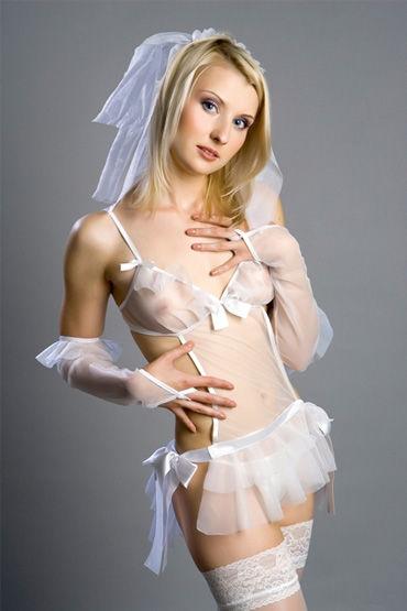 Flirt On Невеста Нежный наряд для ролевых игр л hustler юбка розовая