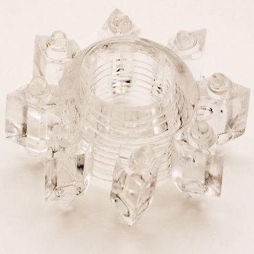 Toyfa кольцо, прозрачное Эрекционное, в виде снежинки а toyfa кольцо прозрачное