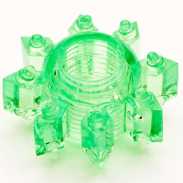 Toyfa кольцо зеленое Гелевое насадки страпоны для мужчин toyfa