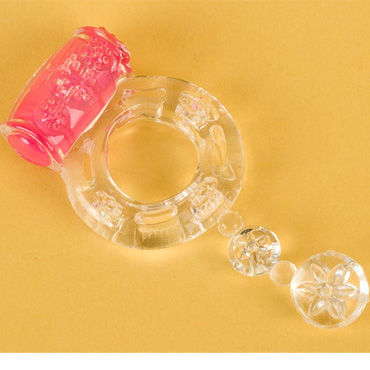 Toyfa кольцо, прозрачное С вибрацией вибромассажёр california exotic novelties s16 фиолетовый перезаряжаемый